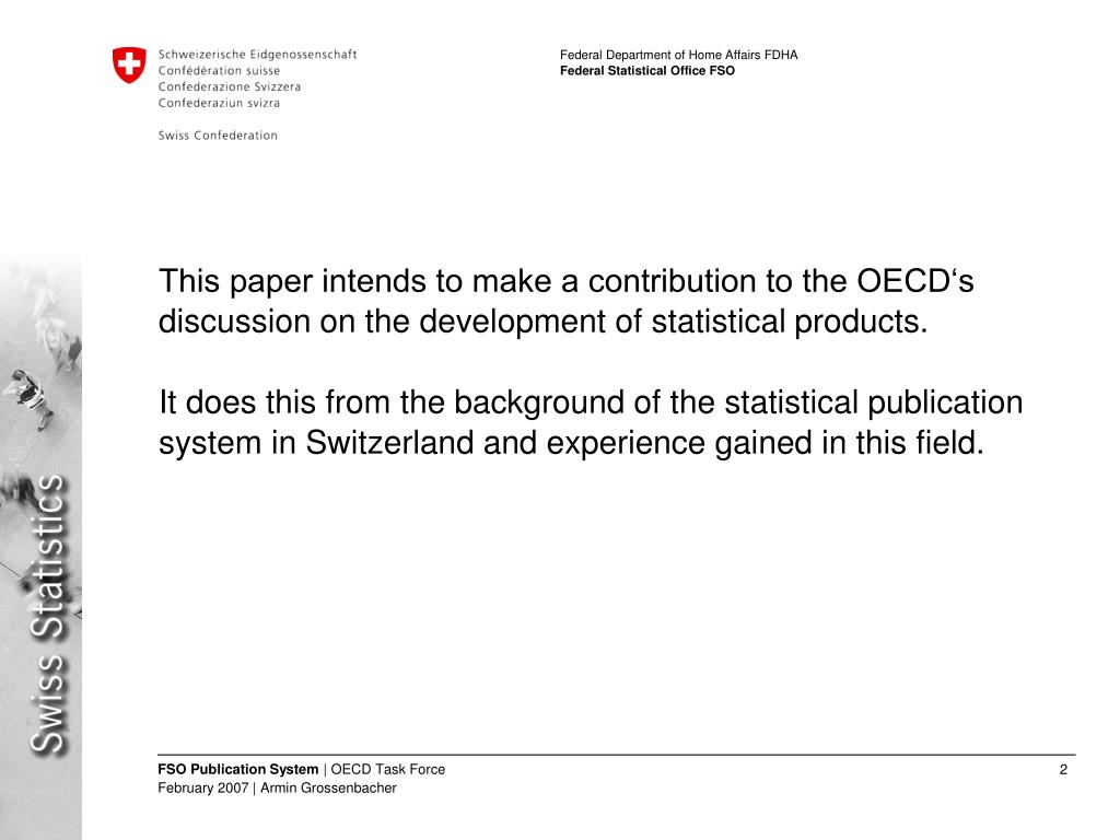 This paper intends to make a contribution to the OECD's discussion on the development of statistical products.