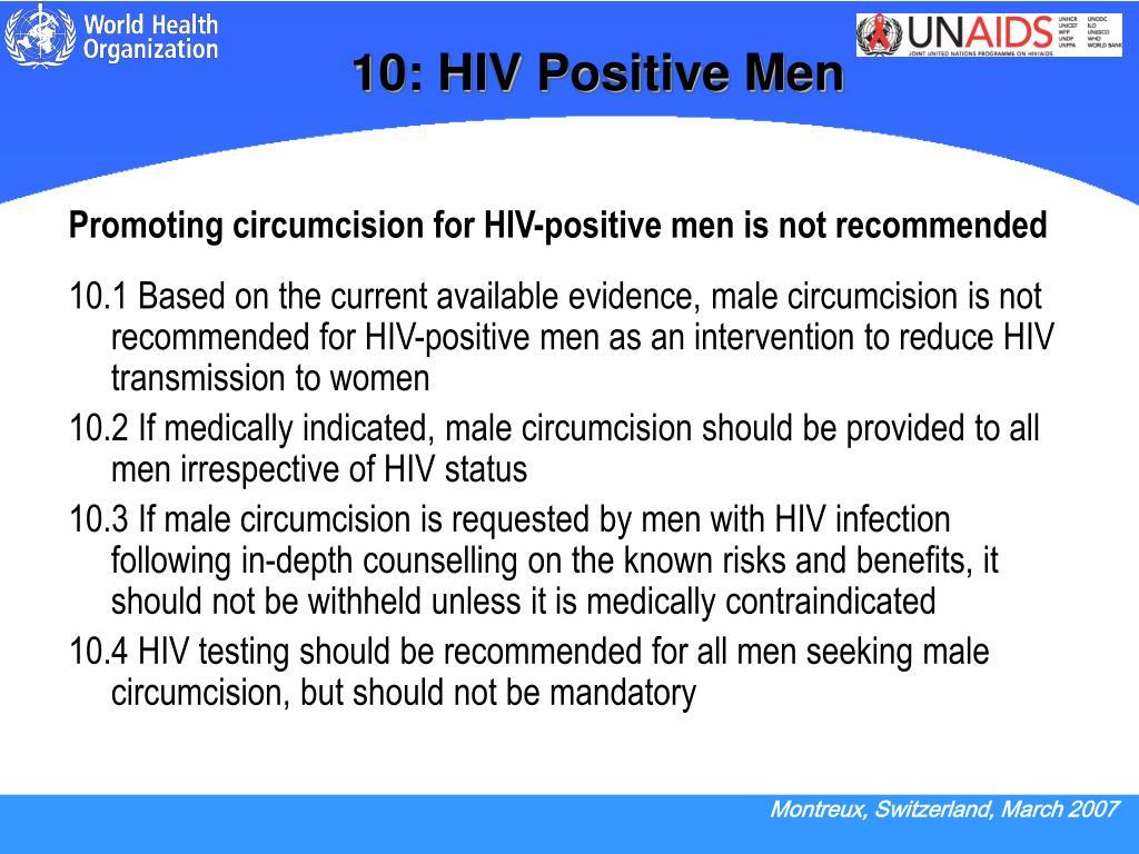 10: HIV Positive Men
