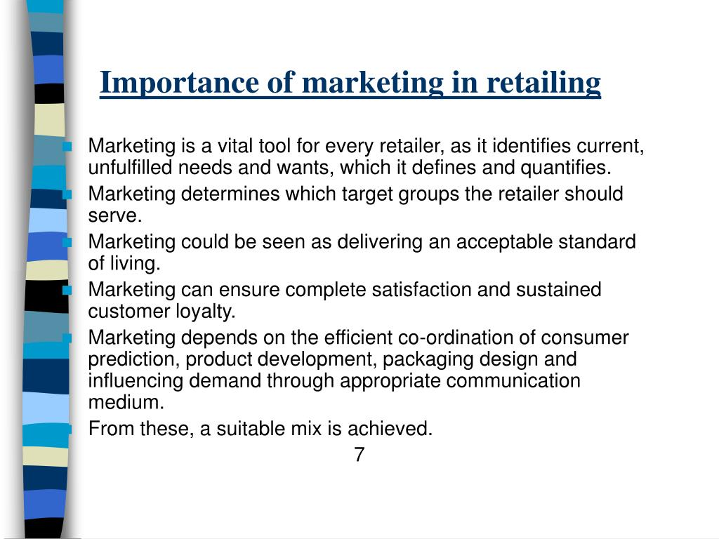 PPT - Retail Marketing Mix and Planning PowerPoint