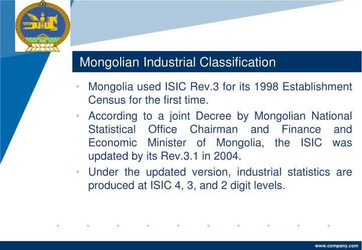 Mongolian Industrial Classification
