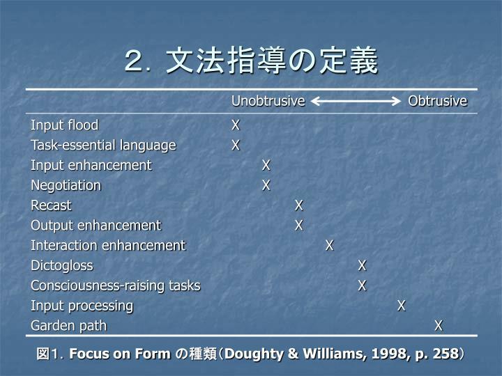 2.文法指導の定義
