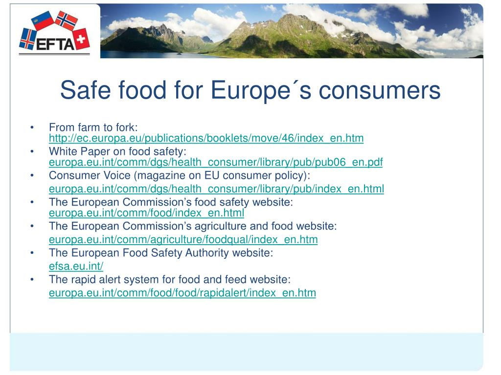 Safe food for Europe´s consumers
