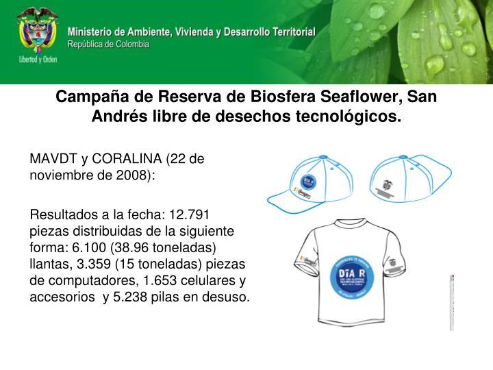 Campaña de Reserva de Biosfera Seaflower, San Andrés libre de desechos tecnológicos.