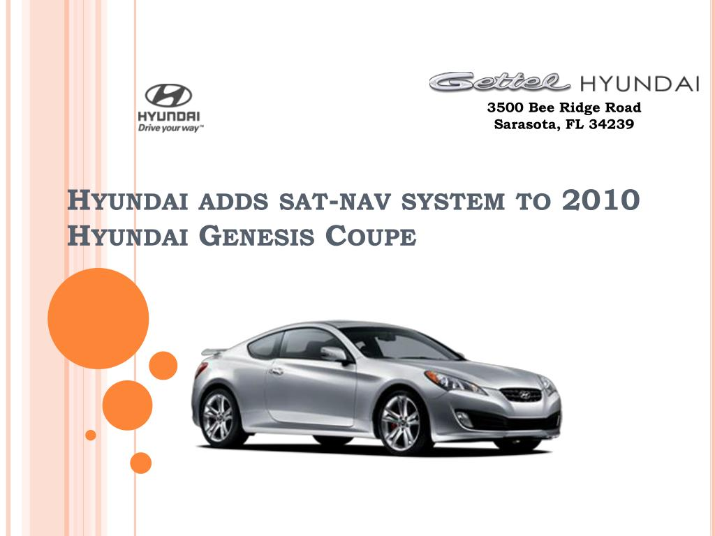 hyundai adds sat nav system to 2010 hyundai genesis coupe l.