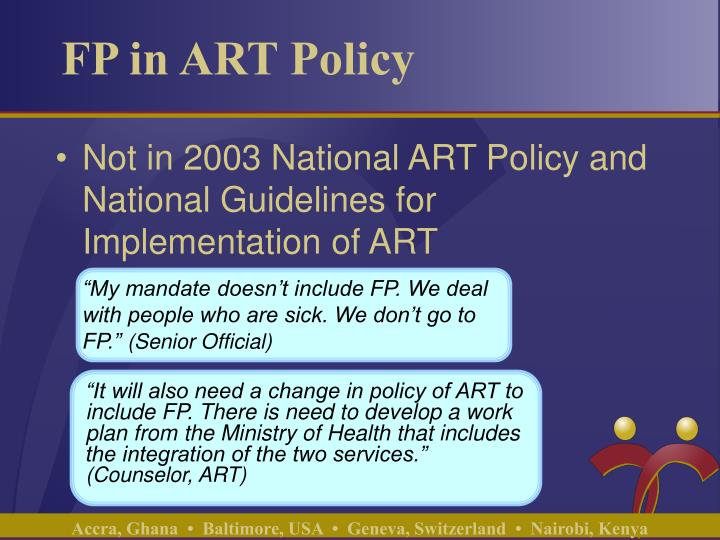 Fp in art policy