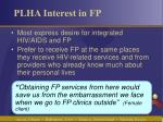 plha interest in fp