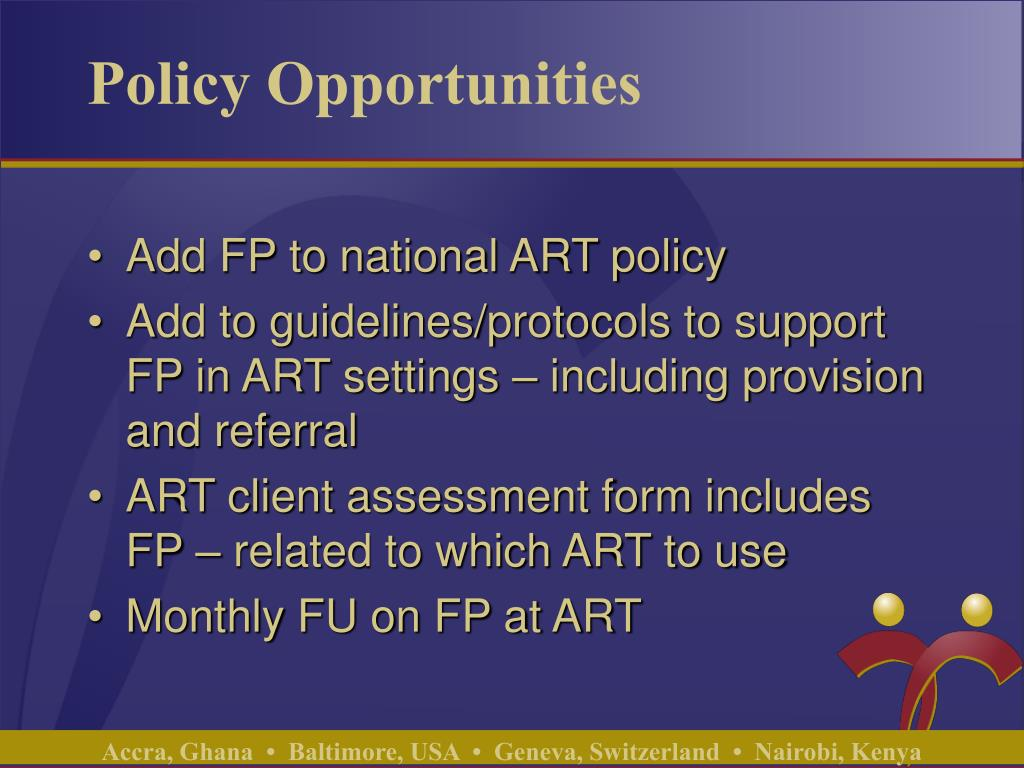 Policy Opportunities