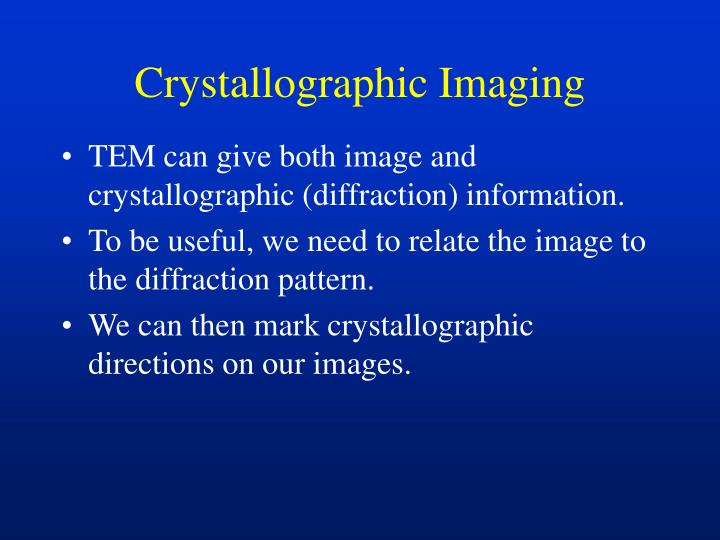 Crystallographic Imaging