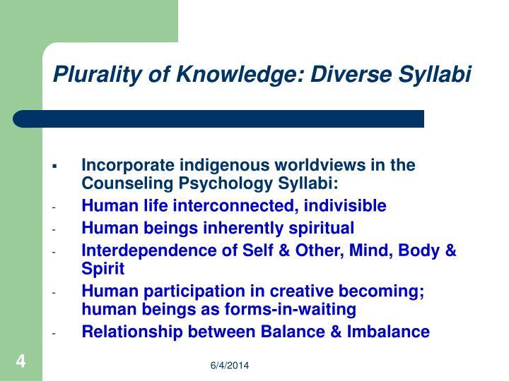 Plurality of Knowledge: Diverse Syllabi