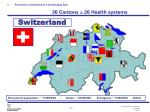 preventon in switzerland a challenging task 26 cantons 26 health systems