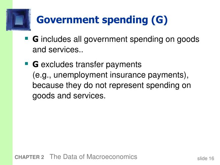 Government spending (G)