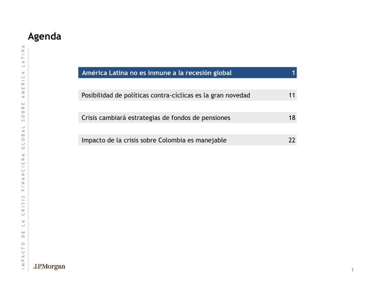 Am rica latina no es inmune a la recesi n global