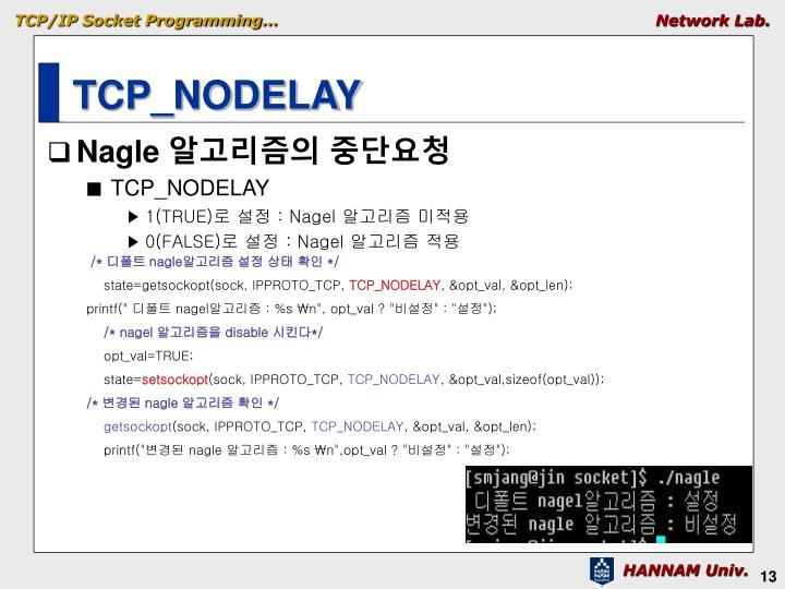TCP_NODELAY