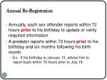 annual re registration