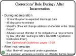 corrections role during after incarceration