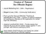 creation of national sex offender registry