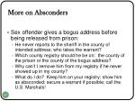 more on absconders