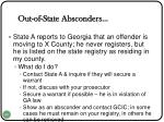 out of state absconders
