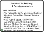 resources for searching arresting absconders