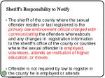 sheriff s responsibility to notify