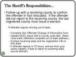the sheriff s responsibilities