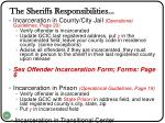 the sheriffs responsibilities