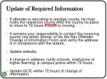 update of required information1