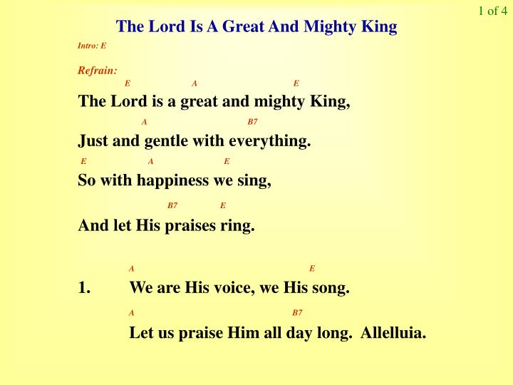 PPT - The Lord Is A Great And Mighty King PowerPoint Presentation ...