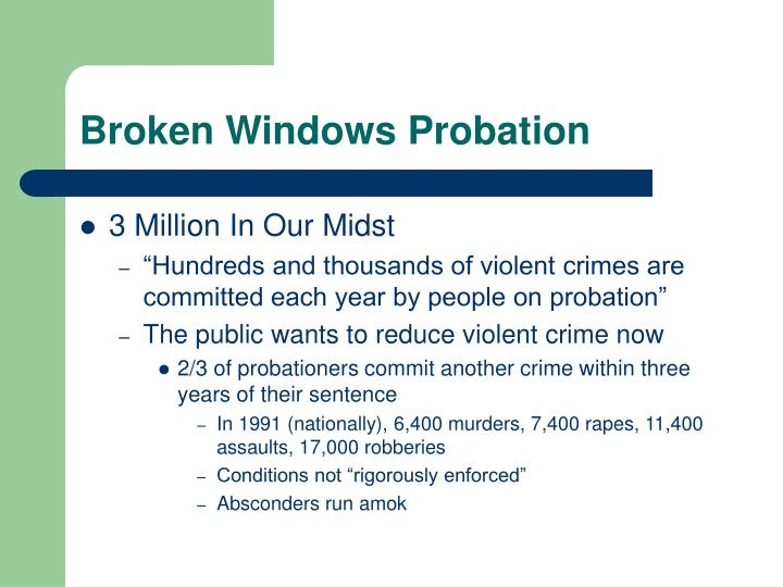 the flaws and criticisms of the broken windows policing Fixing broken windows: restoring order and reducing crime in our communities by george l for the broken windows approach, lott found that the approach was actually associated with murder the notion that legalizing abortion drives down crime rates is logically flawed and morally repugnant.
