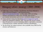 hungary egov strategy 2001 2006