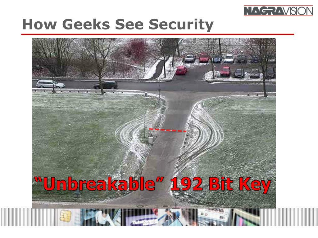 How Geeks See Security