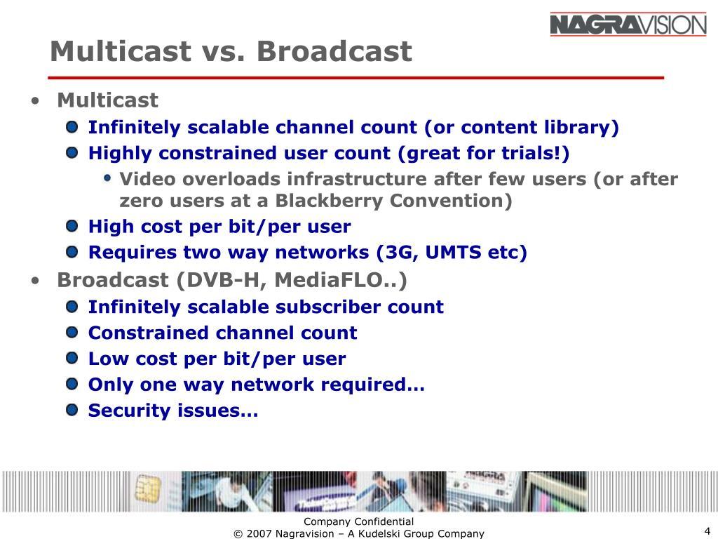 Multicast vs. Broadcast