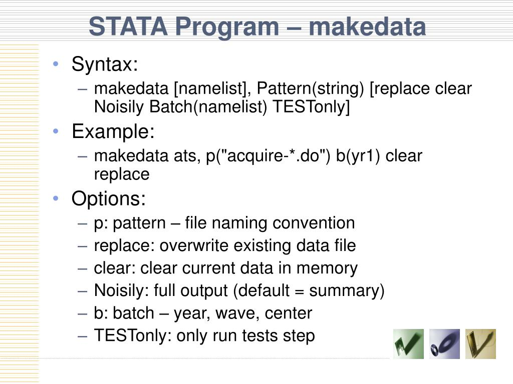 STATA Program – makedata