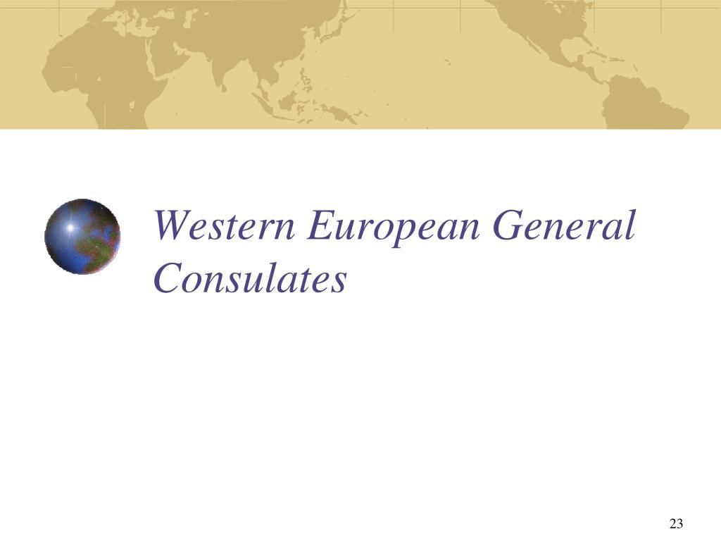 Western European General Consulates