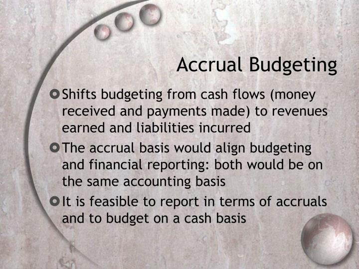 Accrual Budgeting