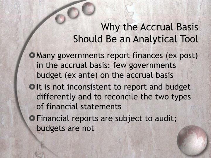 Why the Accrual Basis Should Be an Analytical Tool