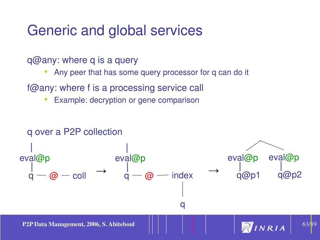 Generic and global services