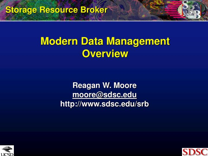 Modern data management overview