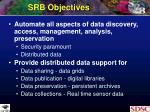 srb objectives