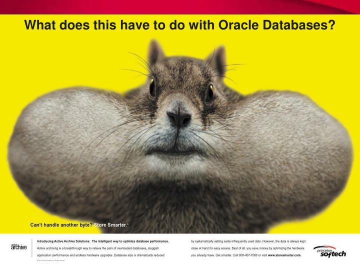 What does this have to do with oracle databases