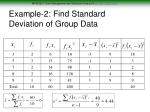 example 2 find standard deviation of group data