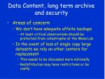 data content long term archive and security19