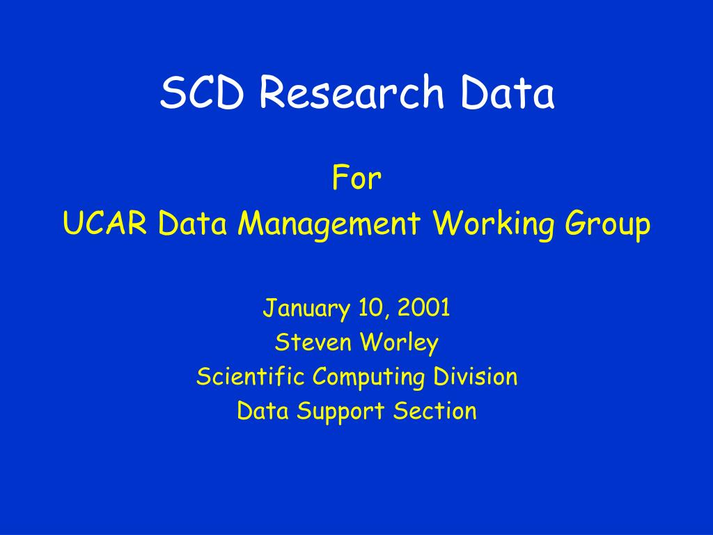 scd research data l.