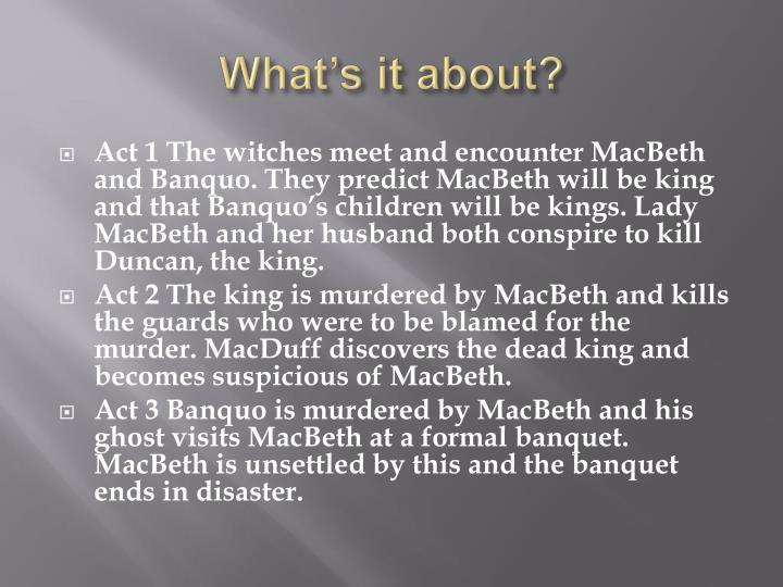 similaritiesdifferences of macbeth banquo and macduff essay Basically macbeth showed that his fatal flaw was too much ambition, and that was demonstrated through him killing duncan, killing banquo, and killing the family of macduff.