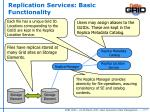 replication services basic functionality