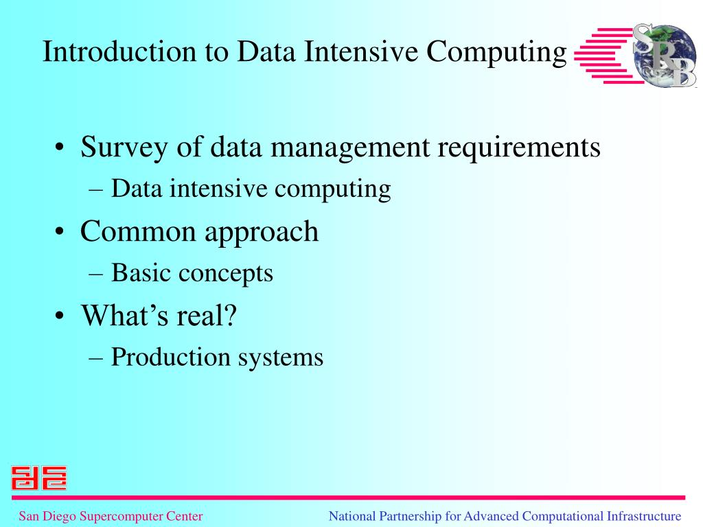 Survey of data management requirements