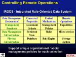 controlling remote operations