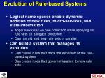 evolution of rule based systems