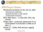 jim project status