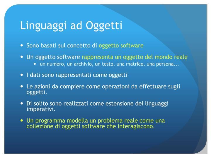 Linguaggi ad Oggetti